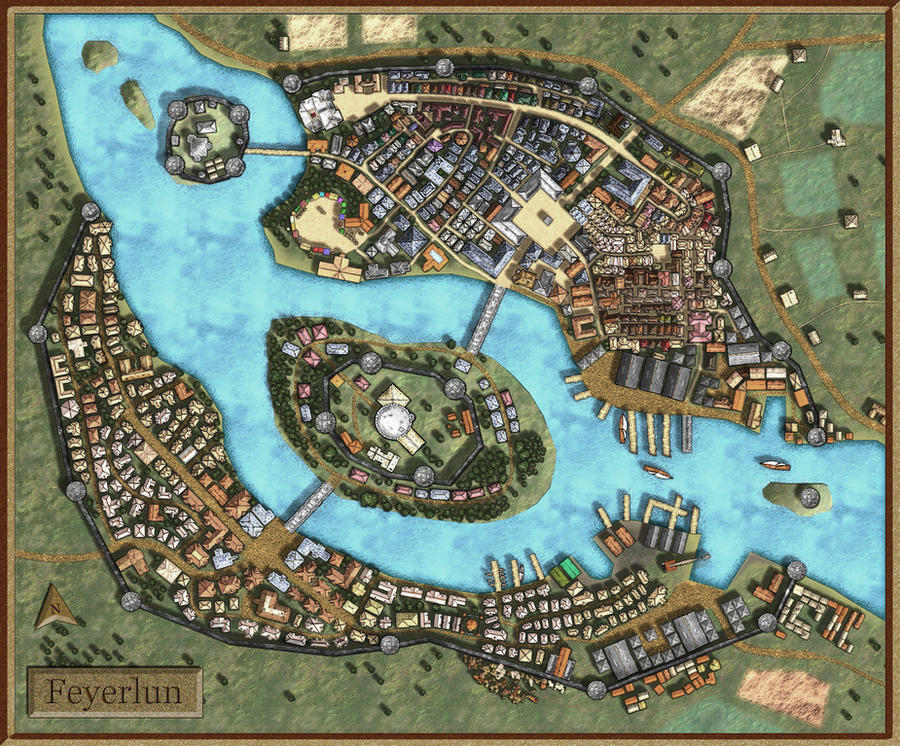 Paid City Map For My D D Campaign