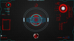 Rainmeter Future Red,Teal and Blue