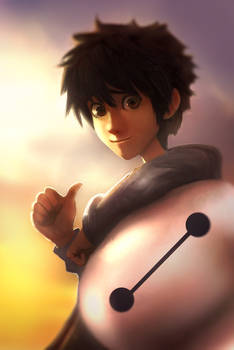 Hiro Hamada and Baymax Big hero 6