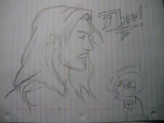 Thor sketch by Drweirdenstien