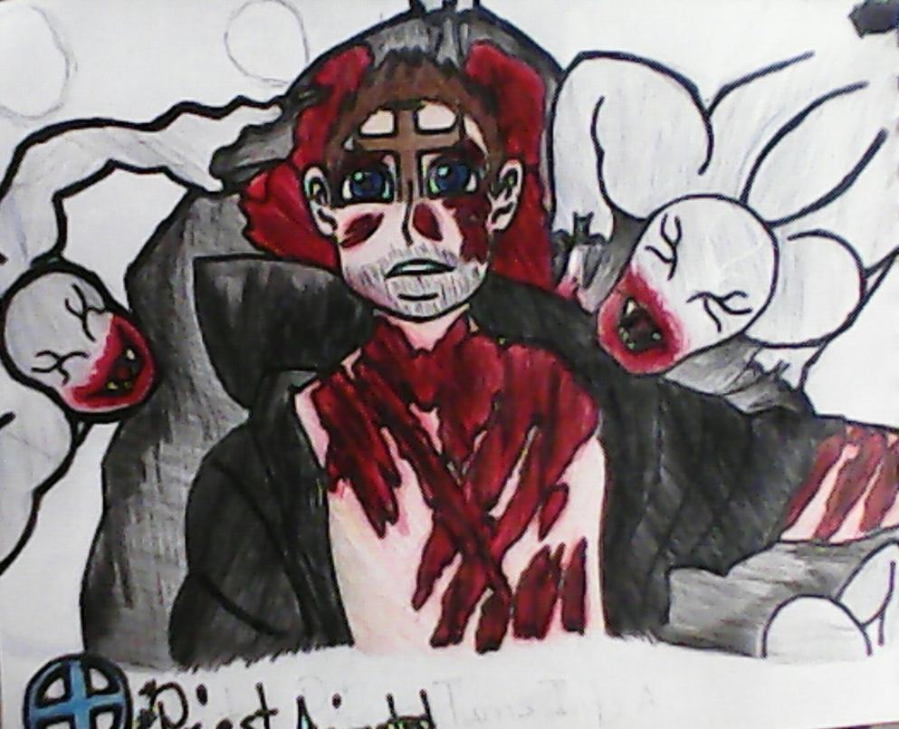 Movie Priest Black Hat DrawingColored4 by kisuke15