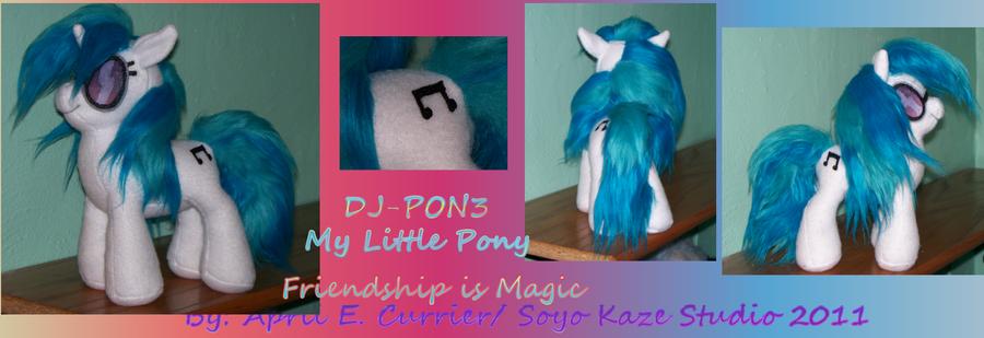 DJ-PON3 custom MLP Plush by Soyo-Kaze-Studio
