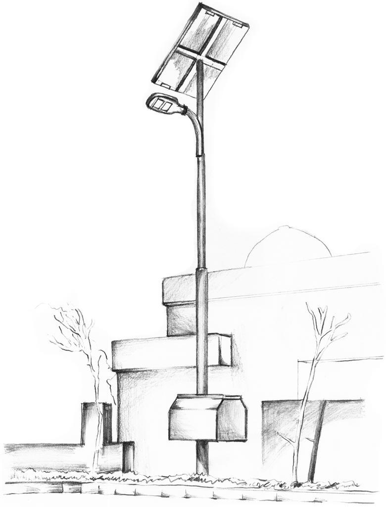 Solar Street Light by corElement on DeviantArt for Street Light Drawing  34eri