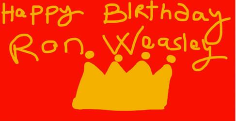 HAPPY BIRTHDAY RON WEASLEY-2019-WIP by Mairelyn