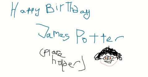 HAPPY BIRTHDAY JAMES POTTER I-2019- WIP-DO NOT FAV by Mairelyn