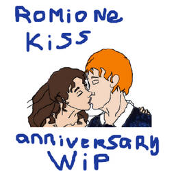 Romione 1st kiss anniversary- WIP-DO NOT FAV by Mairelyn