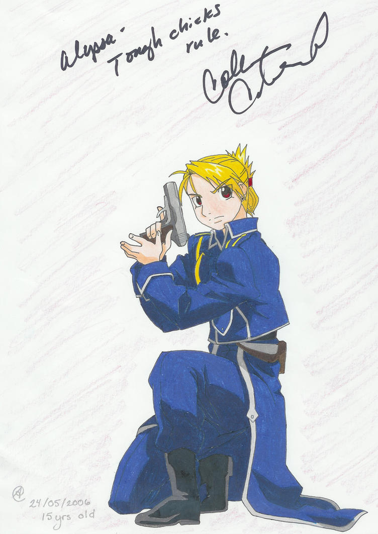 Shotgun Girl -Riza Hawkeye- by o0bubbleheadz0o