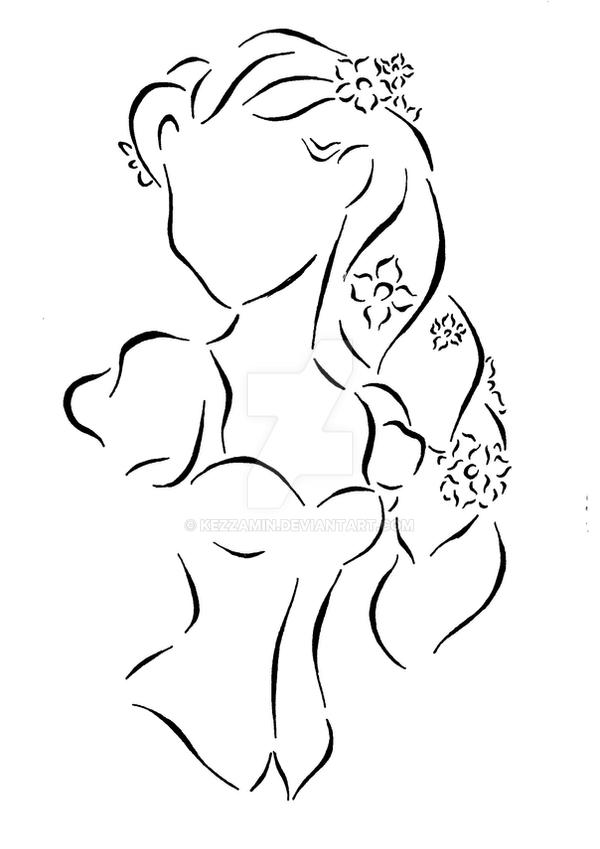 Contour Line Drawing Pumpkin : Rapunzel by kezzamin on deviantart