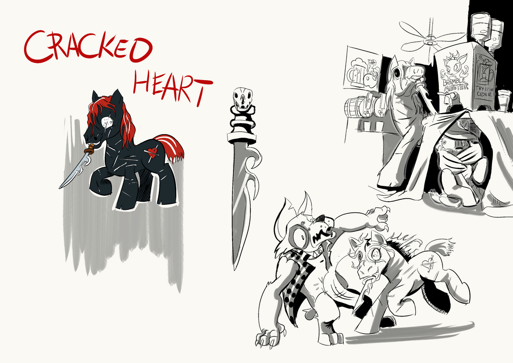 Cracked Heart Sheet by LytletheLemur
