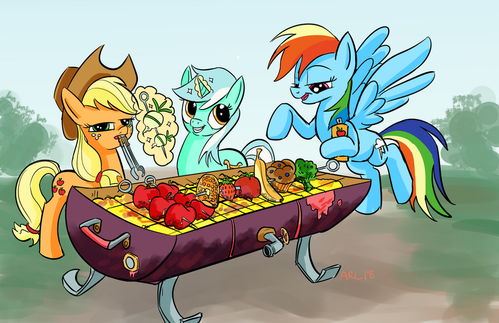 BFF'S BBQ by LytletheLemur