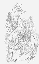 Fox Tattoo Design
