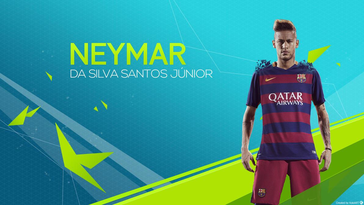 Neymar Jr Wallpaper FIFA16 By KokiArt