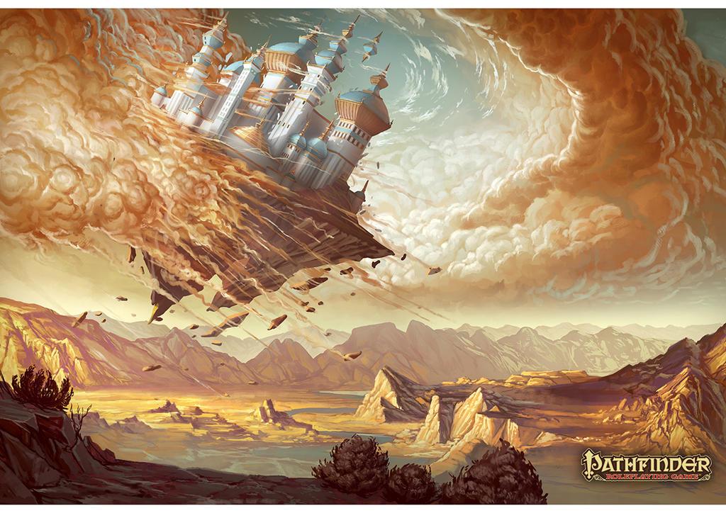 Sky city falls by JohanGrenier
