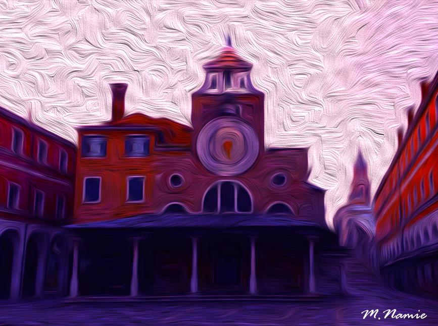 Violet light on Rialto