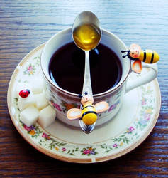 Honey bees and Sugary Teas by naked-in-the-rain