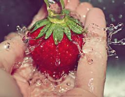 Splash of strawberry