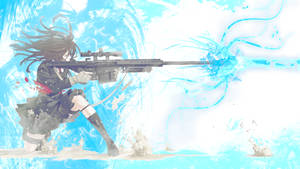 Rifle Girl Wallpaper by Gazownik