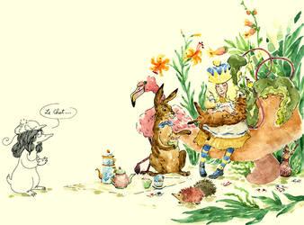 Alice and Cat by feeyuu