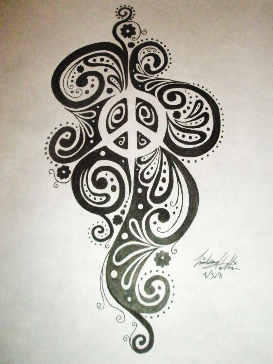 Negative Space Peace Sign Design by LinsCatMeow on DeviantArt