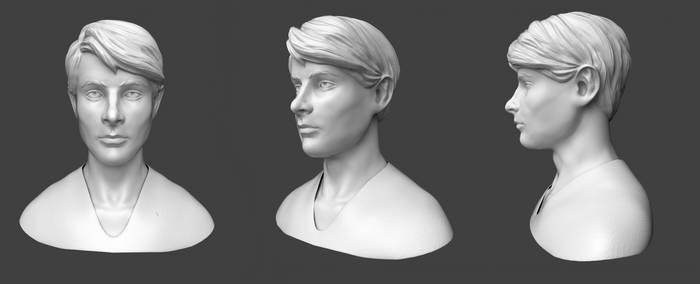 Adrien Tyndall sculpt