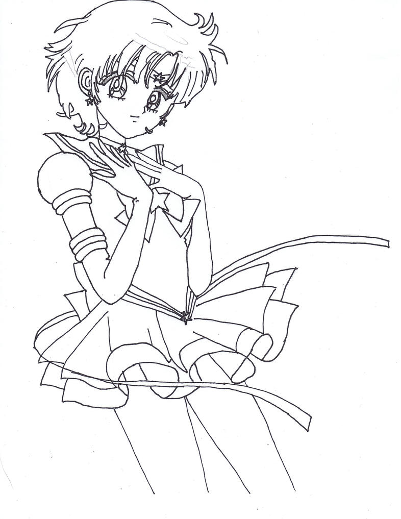 Coloring Pages Sailor Mercury Coloring Pages Breadedcat Free