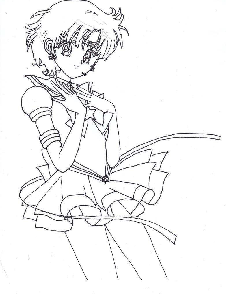 Coloring Pages Sailor Mercury Coloring Pages eternal sailor mercury lineart by phoenix93 on deviantart phoenix93