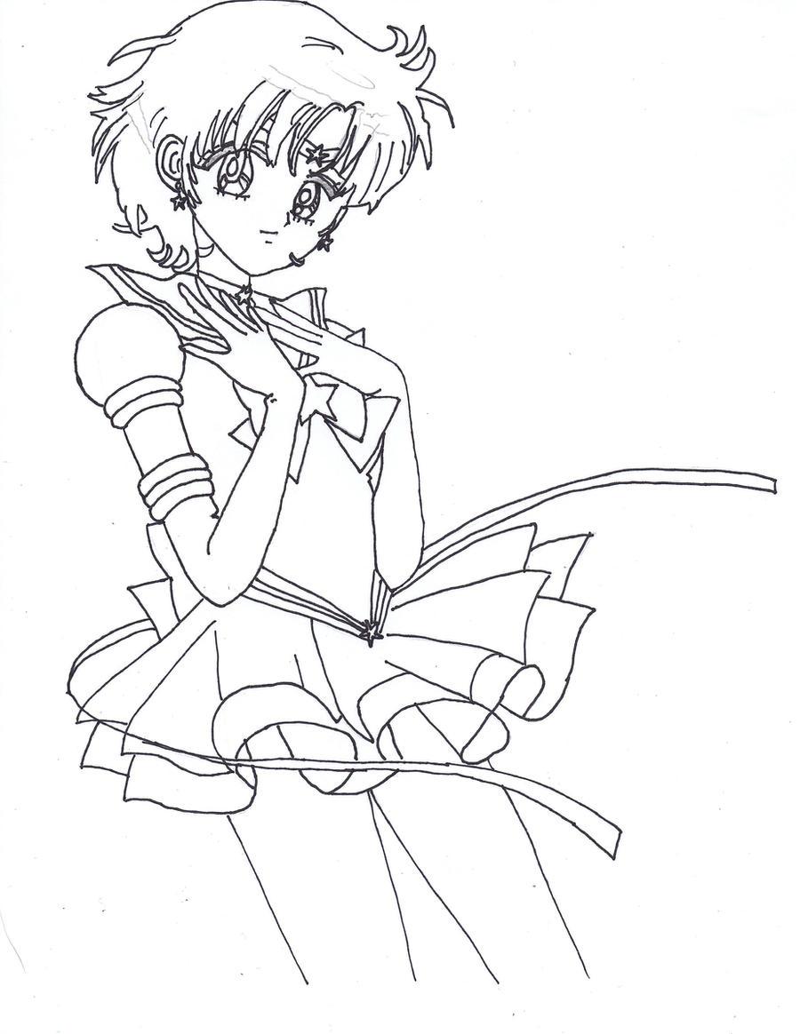 Eternal Sailor Mercury Lineart by sailor-phoenix93 on DeviantArt
