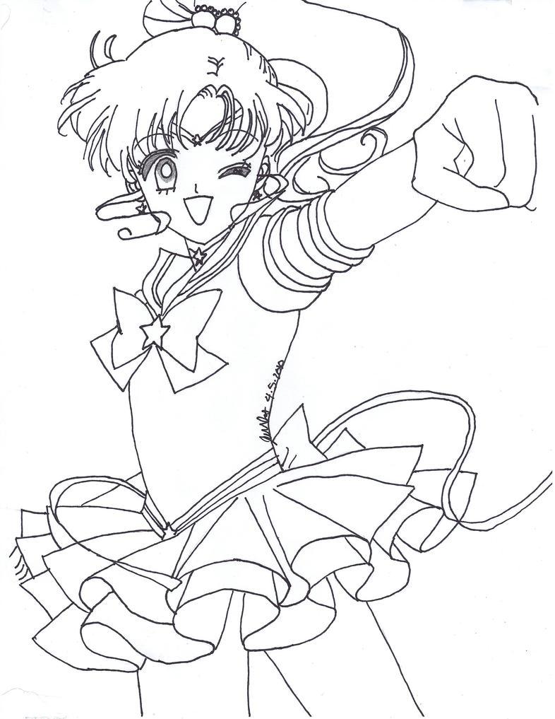 Eternal sailor jupiter lineart by sailor phoenix93 on for Sailor jupiter coloring pages