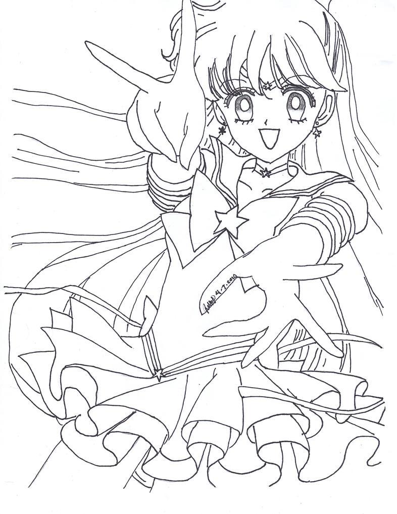 Eternal Sailor Venus Lineart by sailor-phoenix93 on DeviantArt