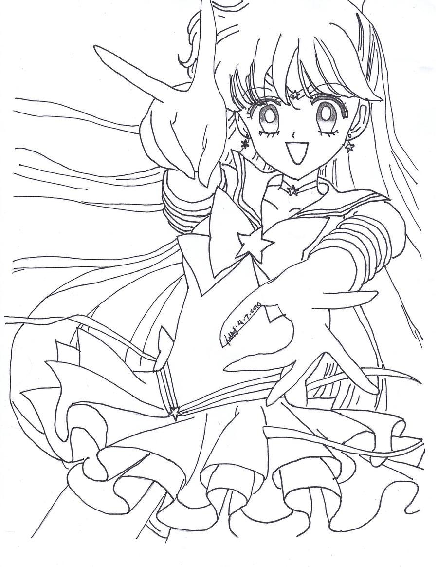 Eternal sailor venus lineart by sailor phoenix93 on deviantart for Sailor venus coloring pages