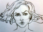 WIP Comic-ish Girl Sketch
