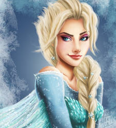 Elsa - Frozen by LornaKelleherArt