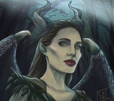 Maleficent by LornaKelleherArt