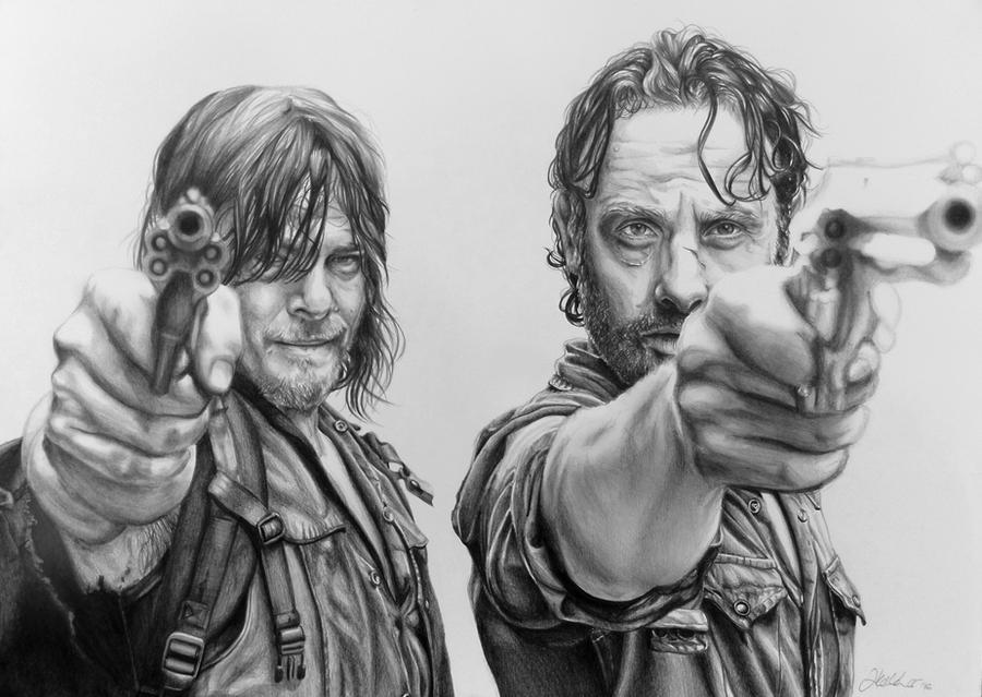 Rick and Daryl by LornaKelleherArt on DeviantArt