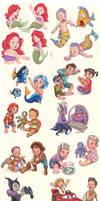 Disney Babies / Kids by LornaKelleherArt