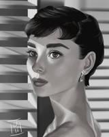 Audrey Hepburn by LornaKelleherArt