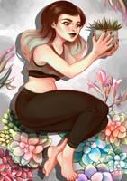 Succulent by LornaKelleherArt