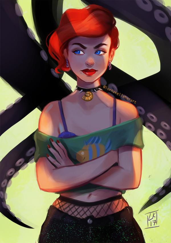 Ariel/Ursula by LornaKelleherArt