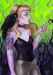 Aurora/Maleficent by LornaKelleherArt