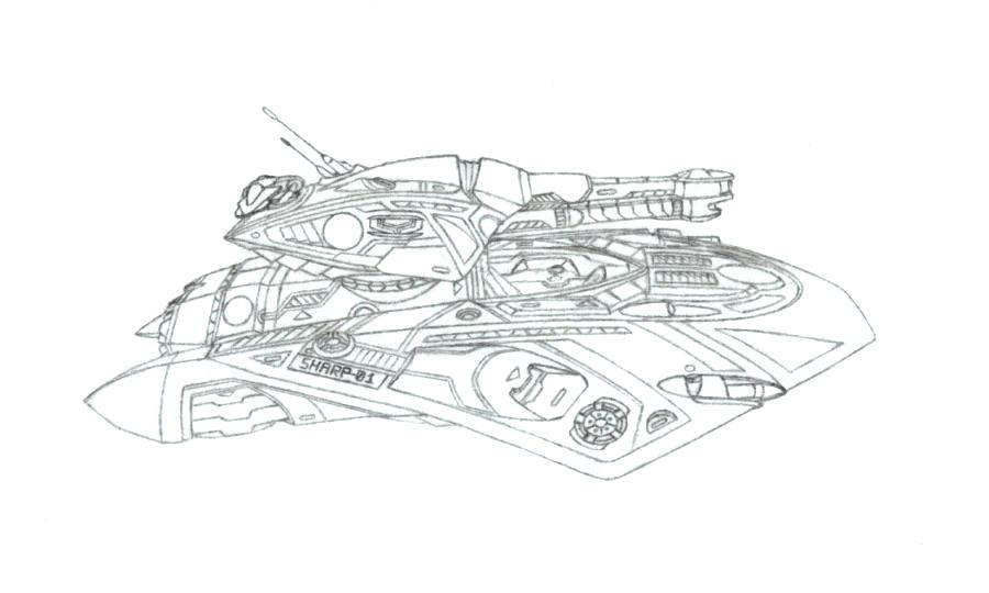 """Battlezone II - N1A2 """"Saber"""" by Wandering-Skipper"""