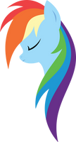 Minimal Rainbow Dash by xPesifeindx