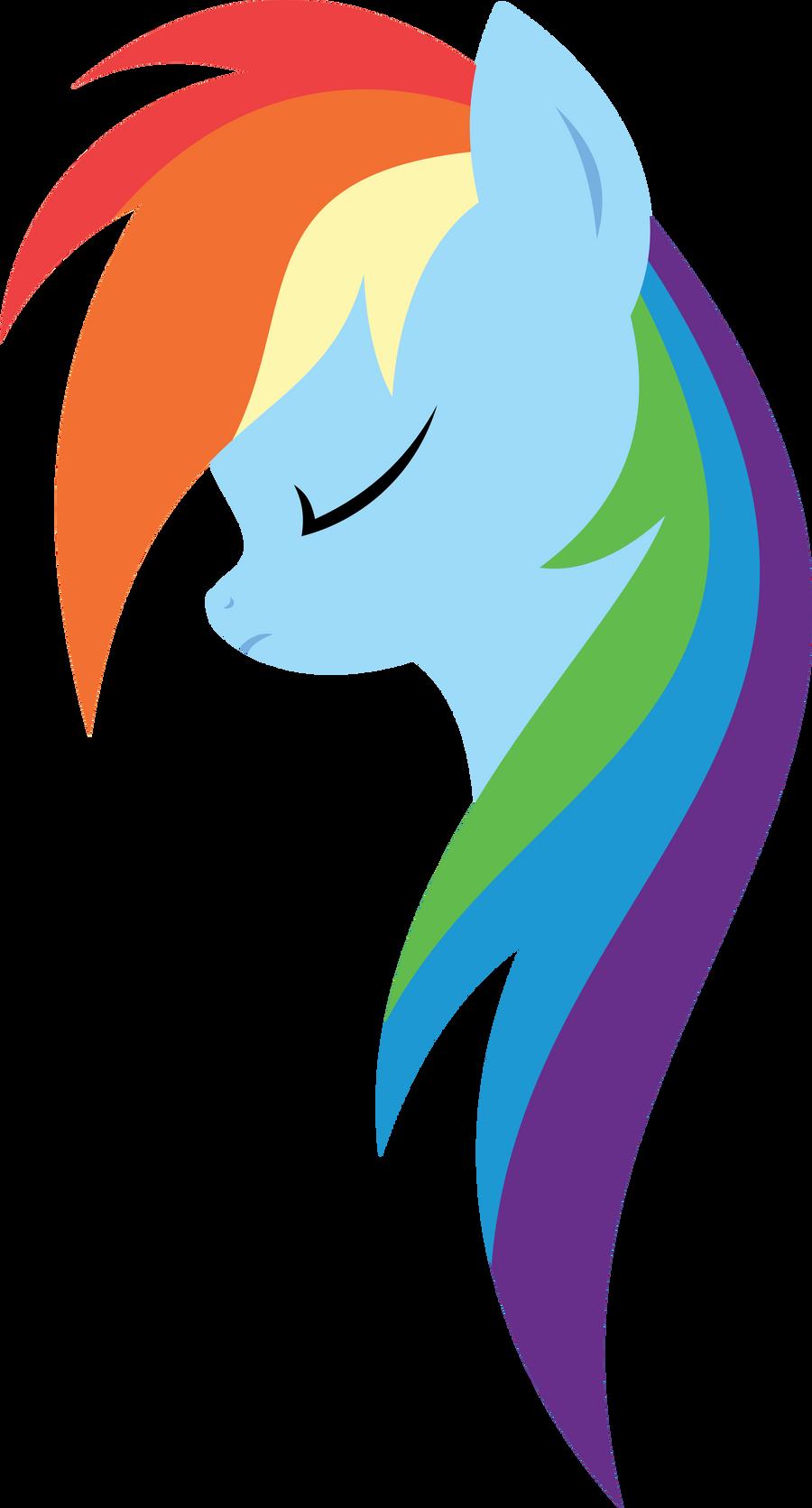 Minimal Rainbow Dash by xPesifeindx on deviantART