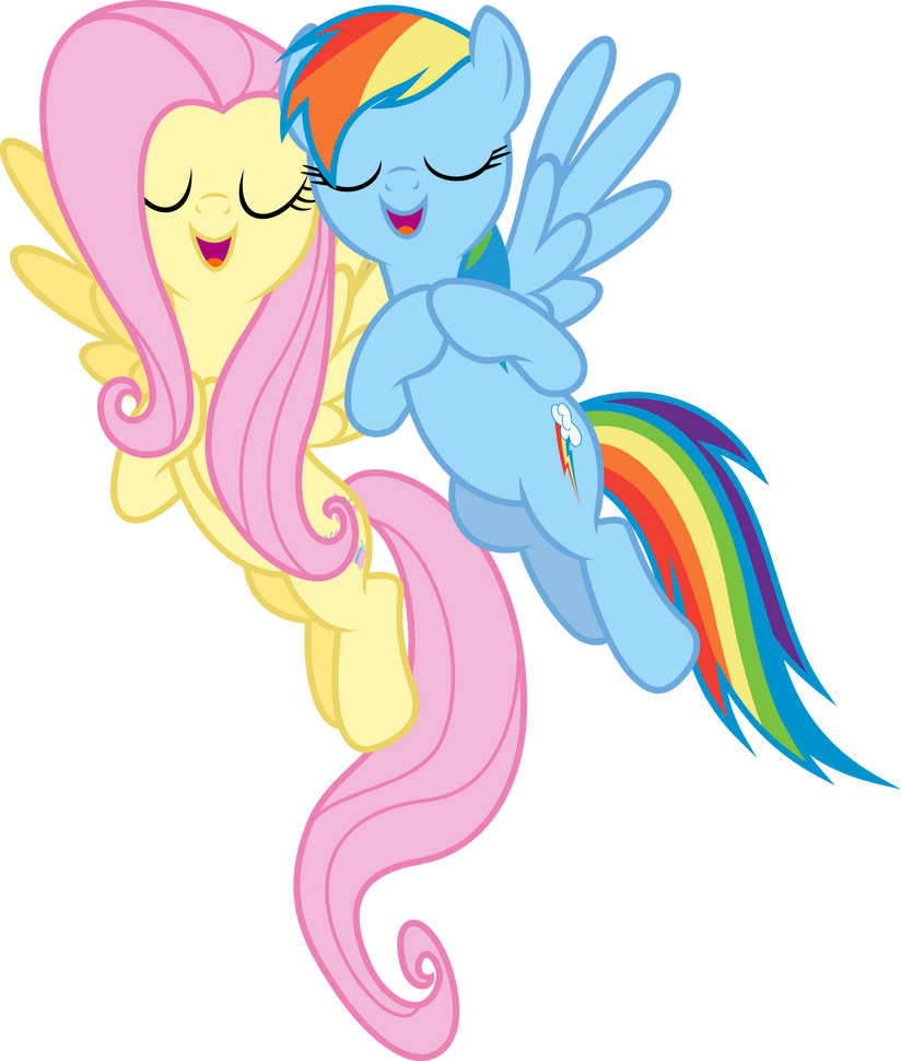 Dashie and Fluttershy 1 by xPesifeindx