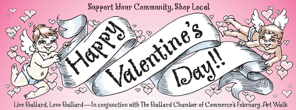 Happy Valentine's banner by Spools