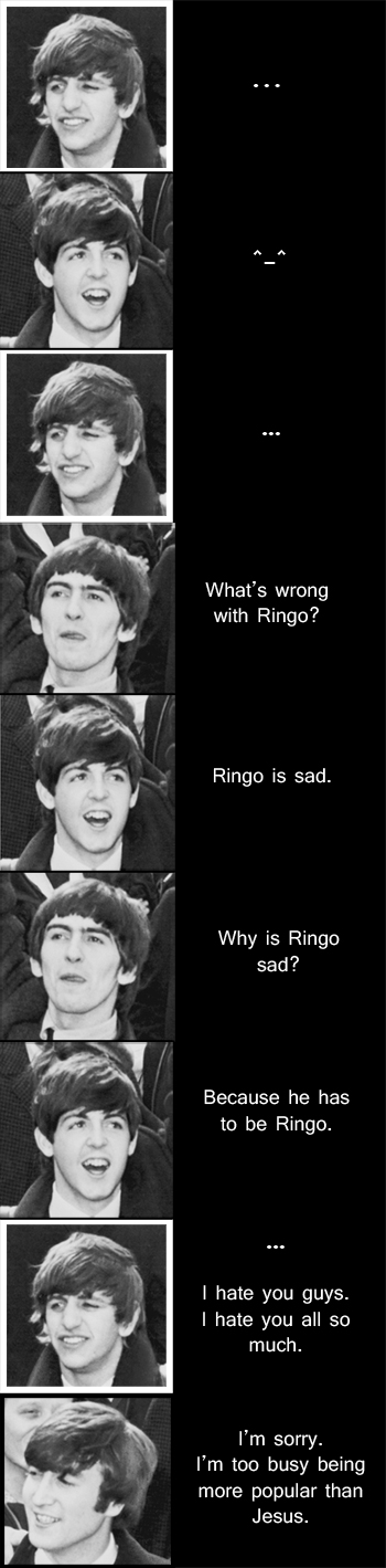 Lord of the Ringo: Don't blame Yoko by SavvyRed