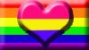 Panromantic Homosexual Pride Flag Stamp by SavvyRed