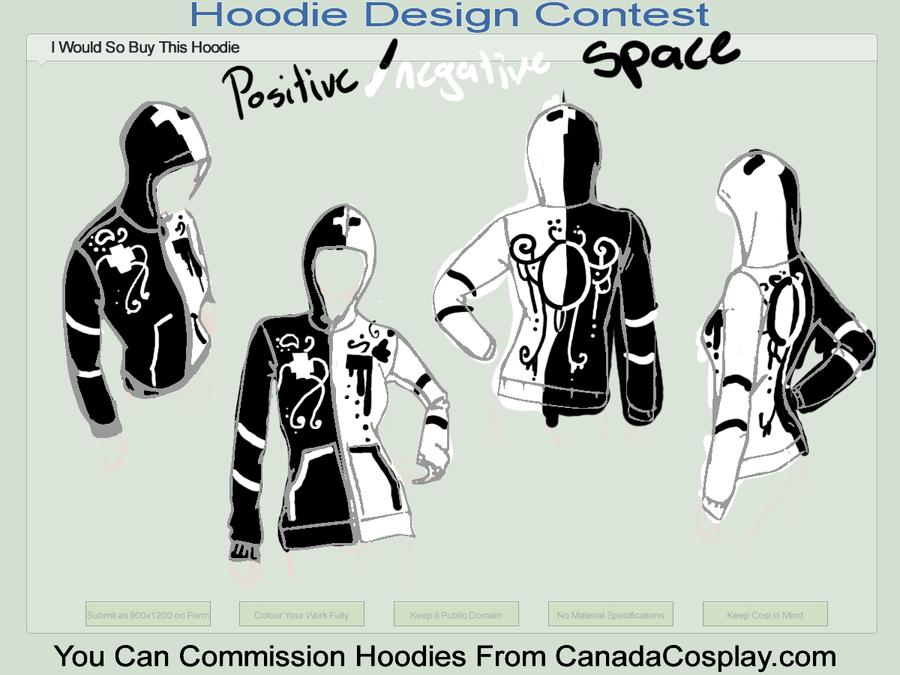 positive negative space hoodie by ilovezimandgir123
