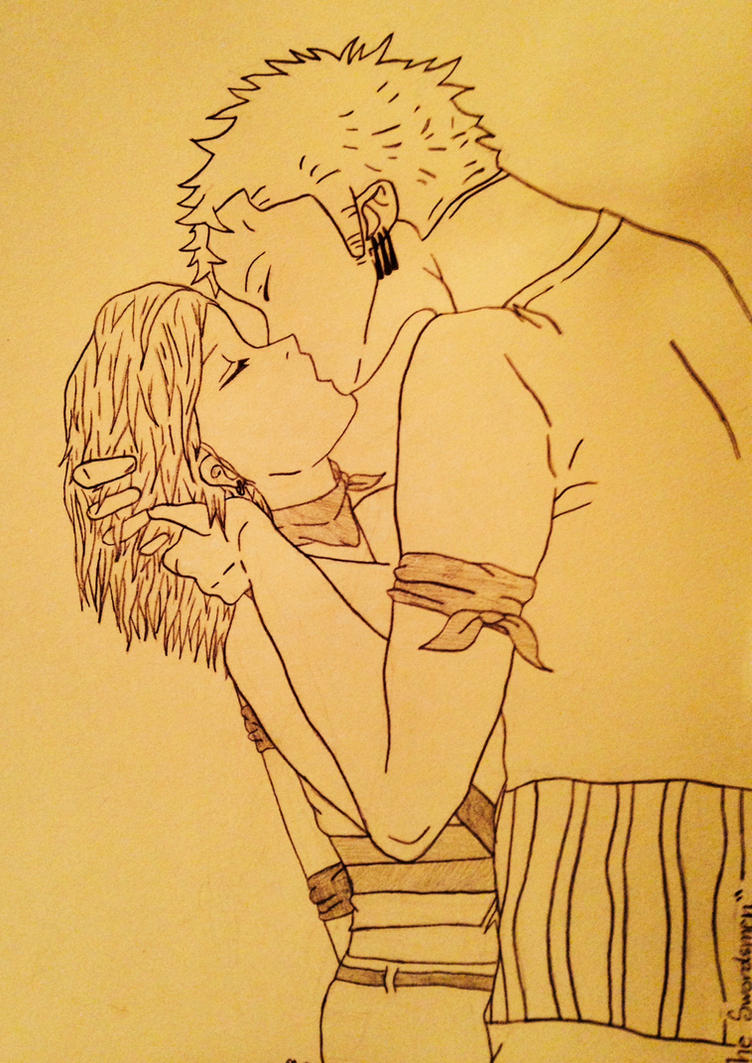 Zoro x Aneko Itonami One Piece OC by SlyJakRatchetGamer