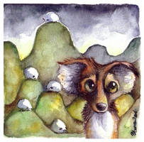 Poor Sheepdog by veeae