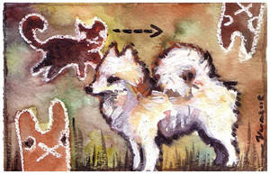 Vinski, cat and bunnies by veeae